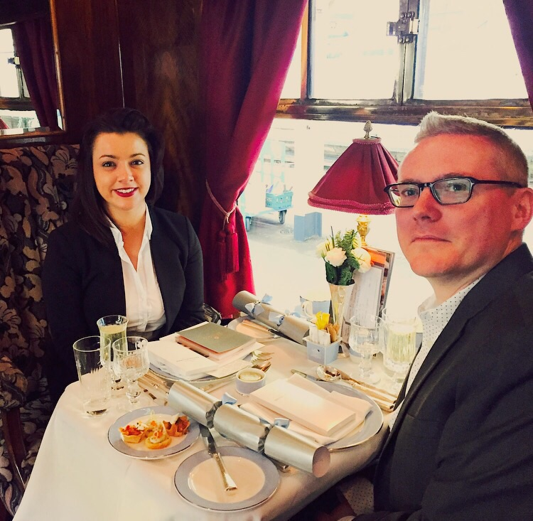 Christmas lunch on board the Belmond British Pullman