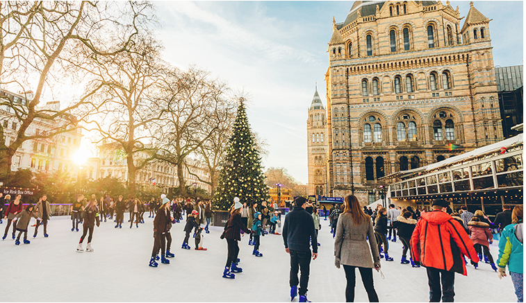 made go skating at Natural History Museum Ice Rink