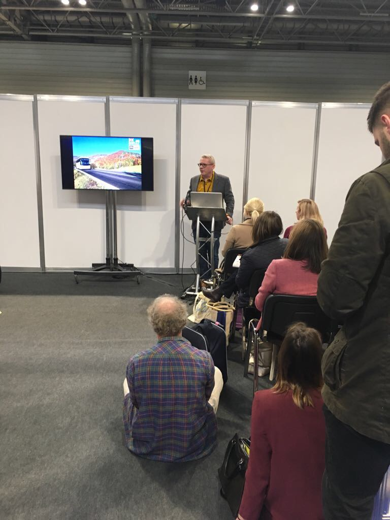 Jonathan Mountford speaking at Family Attraction Expo at the NEC In Birmingham